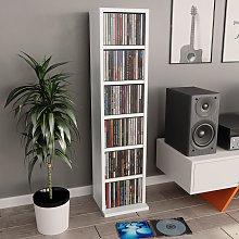 vidaXL CD Cabinet White 21x20x88 cm Chipboard