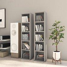 vidaXL CD Cabinets 2 pcs Grey 21x16x93.5 cm