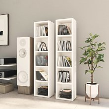 vidaXL CD Cabinets 2 pcs White 21x16x93.5 cm