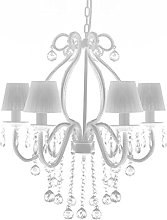 vidaXL Chandelier with 2300 Crystals White Pendant
