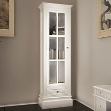 vidaXL Chic Bookcase Cabinet with 3 Shelves White