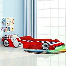 vidaXL Children's LED Race Car Bed 90x200 cm