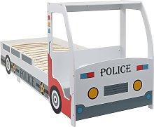 vidaXL Children's Police Car Bed with Desk