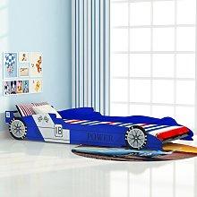 vidaXL Children's Race Car Bed 90x200 cm Blue