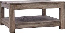 vidaXL Coffee Table 68x68x35 cm Solid Teak Wood