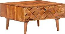 vidaXL Coffee Table 68x68x38 cm Solid Acacia Wood