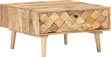 vidaXL Coffee Table 68x68x38 cm Solid Mango Wood
