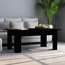vidaXL Coffee Table Black 100x60x42 cm Chipboard