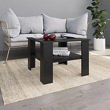 vidaXL Coffee Table Black 60x60x42 cm Chipboard