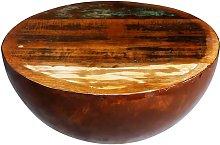 vidaXL Coffee Table Bowl-shaped with Steel Base