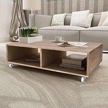vidaXL Coffee Table Brown Solid Wood