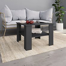 vidaXL Coffee Table Grey 60x60x42 cm Chipboard