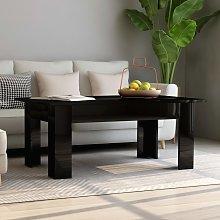 vidaXL Coffee Table High Gloss Black 100x60x42 cm