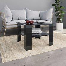 vidaXL Coffee Table High Gloss Black 60x60x42 cm