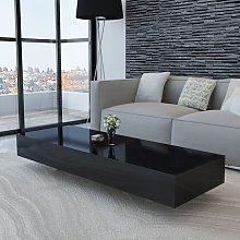 vidaXL Coffee Table High Gloss Black