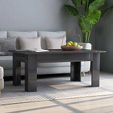 vidaXL Coffee Table High Gloss Grey 100x60x42 cm