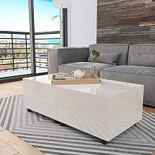vidaXL Coffee Table High Gloss White 120x60x35 cm