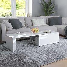 vidaXL Coffee Table High Gloss White 150x50x35 cm
