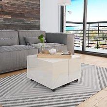 vidaXL Coffee Table High Gloss White 60x60x35 cm