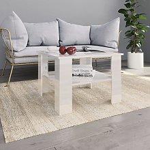 vidaXL Coffee Table High Gloss White 60x60x42 cm