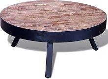 vidaXL Coffee Table Round Reclaimed Teak Wood