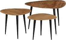 vidaXL Coffee Table Set 3 Pieces Solid Acacia Wood