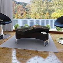 vidaXL Coffee Table Shape-Adjustable High Gloss