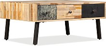 vidaXL Coffee Table Solid Reclaimed Teak 90x65x40