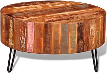 vidaXL Coffee Table Solid Reclaimed Wood Round