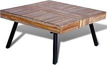 vidaXL Coffee Table Square Reclaimed Teak Wood