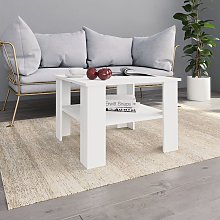 vidaXL Coffee Table White 60x60x42 cm Chipboard