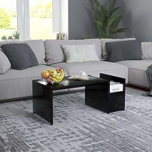 vidaXL Coffee Table with Compartment Living Room