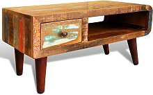 vidaXL Coffee Table with Curved Edge 1 Drawer