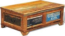 vidaXL Coffee Table with Storage Vintage Reclaimed