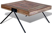 vidaXL Coffee Table with V-shaped Legs Reclaimed