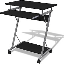 vidaXL Compact Computer Desk with Pull-out