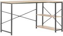 vidaXL Computer Desk 120x72x70 cm Black and Oak -