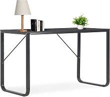 vidaXL Computer Desk Black 120x60x73 cm