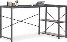 vidaXL Computer Desk Black 120x72x70 cm