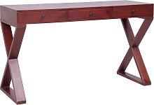 vidaXL Computer Desk Brown 132x47x77 cm Solid