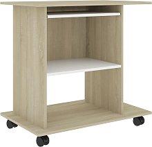 vidaXL Computer Desk Chipboard 80x50x75 cm White