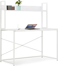 vidaXL Computer Desk White 120x60x138 cm