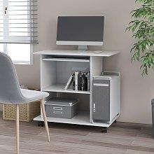 vidaXL Computer Desk White 80x50x75 cm Chipboard