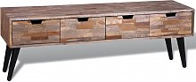 vidaXL Console TV Cabinet with 4 Drawers Reclaimed