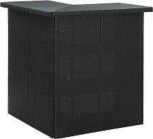 vidaXL Corner Bar Table Black 100x50x105 cm Poly