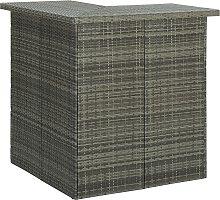 vidaXL Corner Bar Table Grey 100x50x105 cm Poly