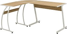 vidaXL Corner Desk L-Shaped Oak