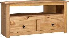 vidaXL Corner TV Cabinet 93x49x49 cm Solid Pine