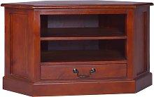 vidaXL Corner TV Cabinet Classical Brown Solid