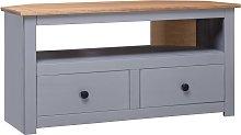vidaXL Corner TV Cabinet Grey 93x55x49 cm Solid
